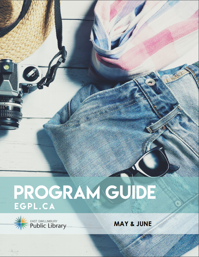 The May June Program Guide featuring beach clothes and accessories